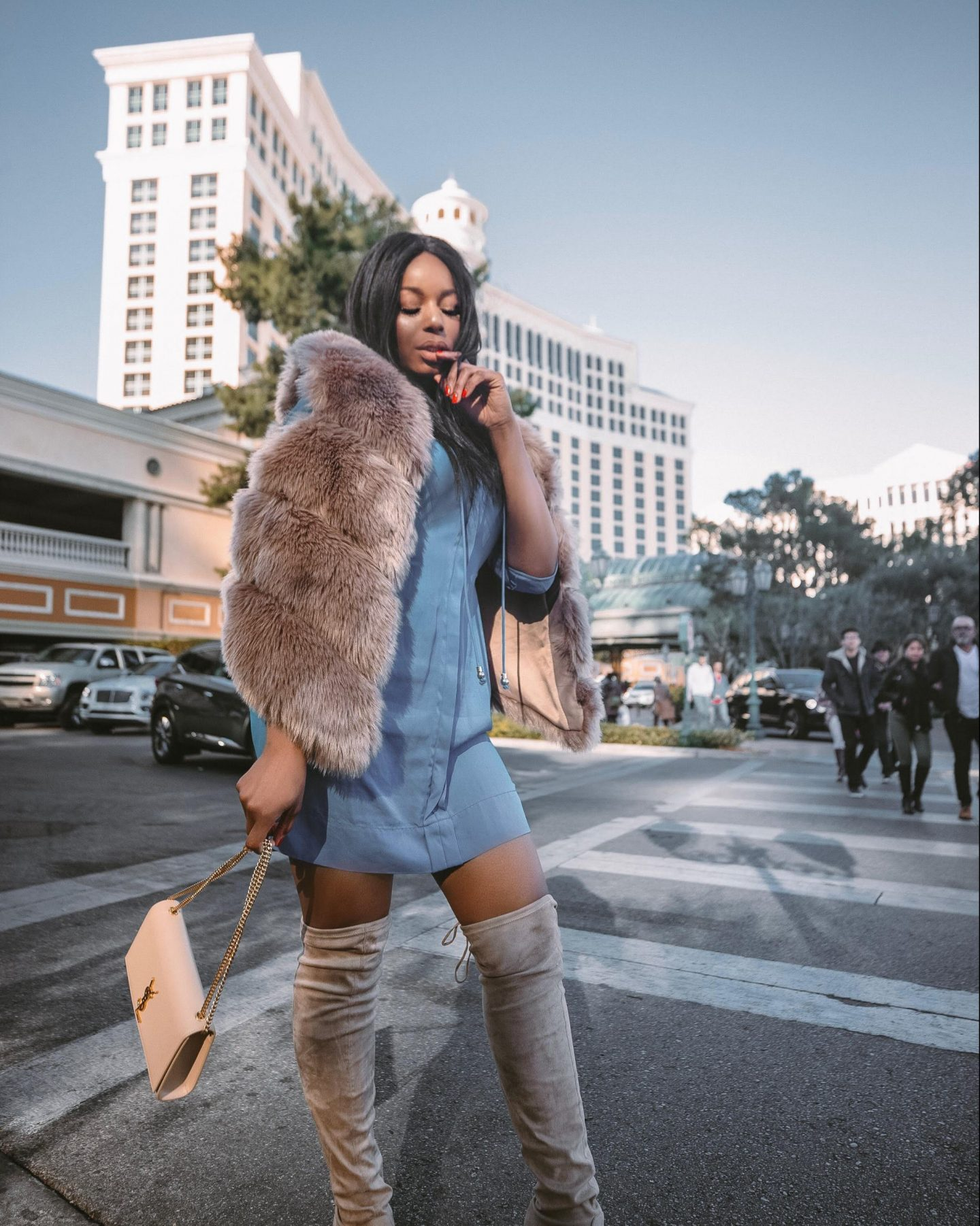 How to Style a Faux Fur Vest in the Winter - by Fashion Blogger Kaye Bassey