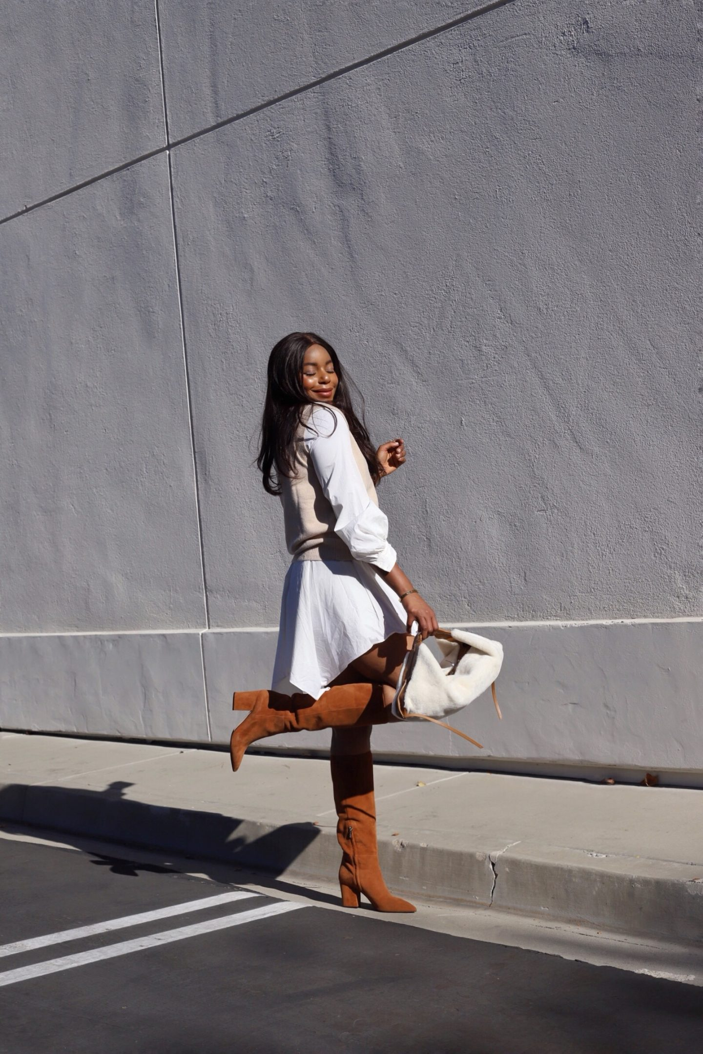 Saks Off 5th Sergio Rossi Suede Boots 3.1 Phillip Lim Shearling Bag