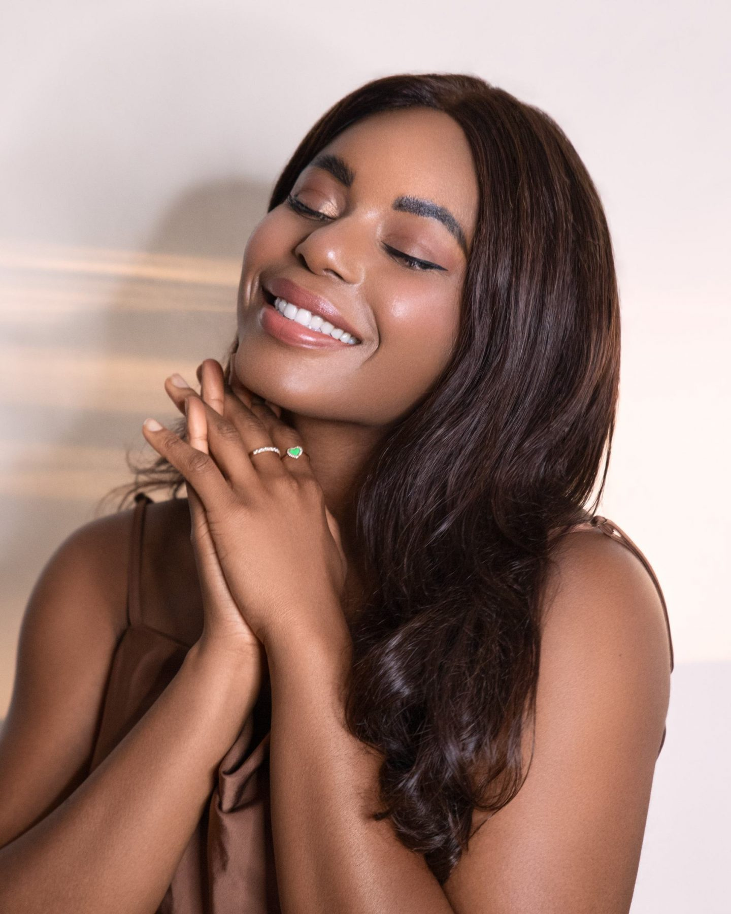 Kaye Bassey beauty shot featuring hair care tips